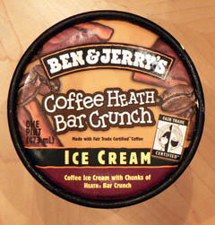 ben & jerry\'s coffee heath bar crunch