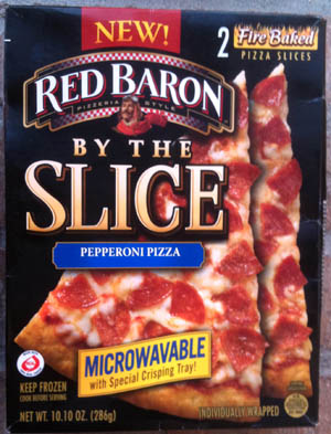 red baron pizza slices